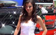 豪车美女-日内瓦车展上的美女车模