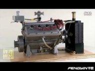 巧夺天工!牛人自制微型V8汽油发动机